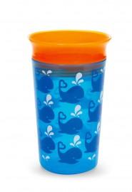 Copo Grande 360º Deco 266ml azul/laranja Miracle 360 Munchkin