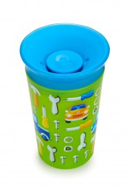 Copo Grande 360º Deco 266ml BOY/CARRO Miracle 360 Munchkin